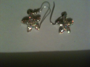 Starfish sparkle earrings $8